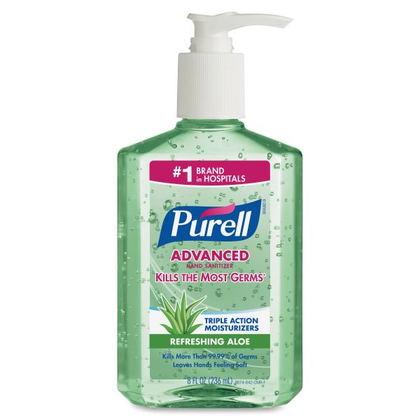 Purell Advanced Instant Hand Sanitizer Gel with Aloe