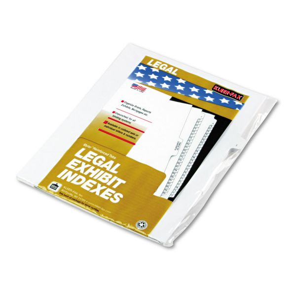 Kleer-Fax Lam Alphabetic Side Tab Index Dividers