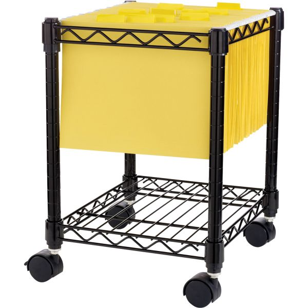 Lorell Compact Mobile Wire Filing Cart