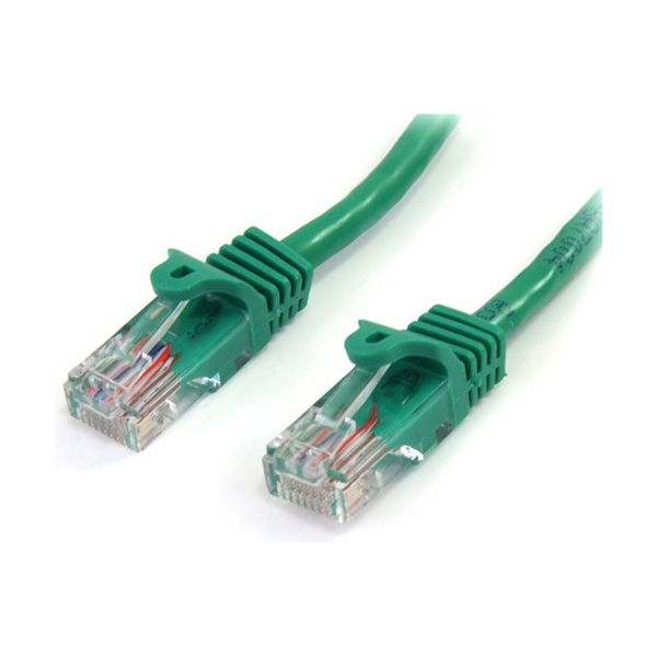 StarTech.com 15 ft Green Snagless Cat5e UTP Patch Cable