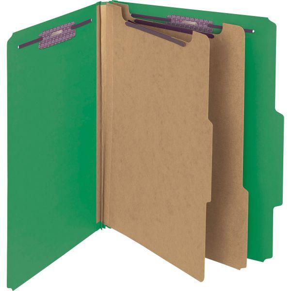 Smead PressGuard Classification File Folder with SafeSHIELD Fasteners