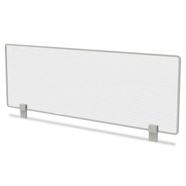 Linea Italia Trento Line Dividing Panel, Polycarbonate, 47-1/8 x 1 3/4 x 15-1/2, Translucent