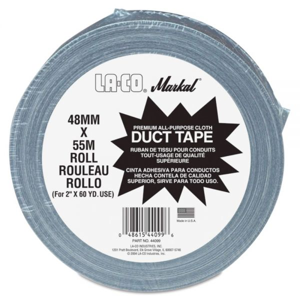 "Markal Duct Tape. 2"" x 60yd, Silver Gray"