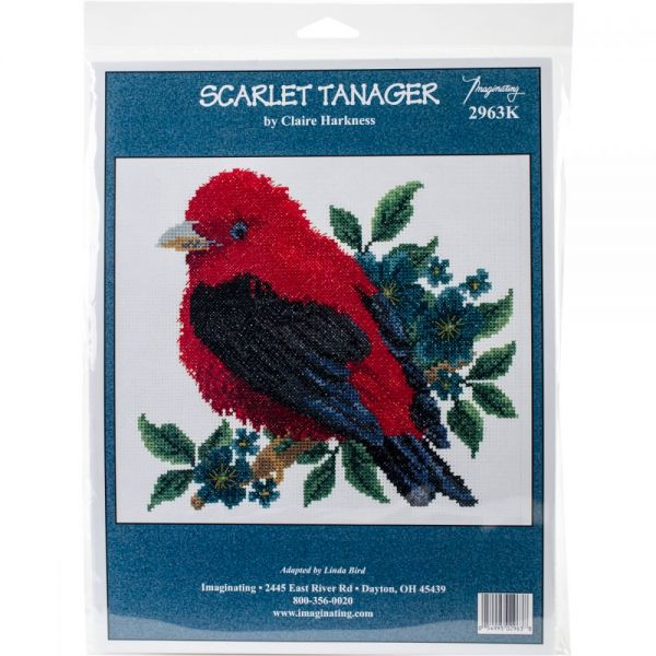 Scarlet Tanager Counted Cross Stitch Kit