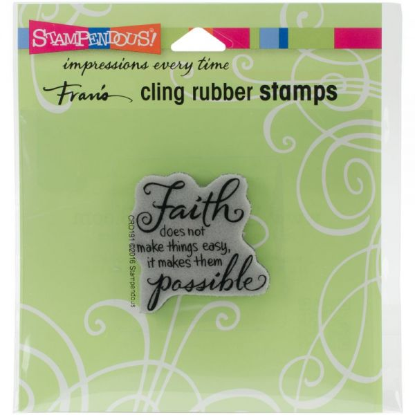 "Stampendous Fran's Cling Stamps 4.75""X4.5"""