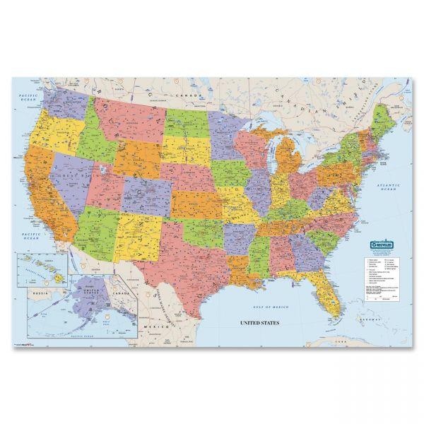 House of Doolittle Laminated United States Map
