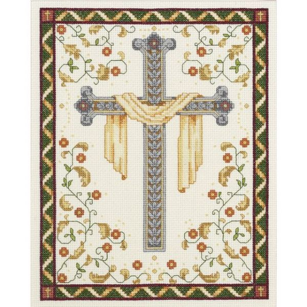 Janlynn His Cross Counted Cross Stitch Kit