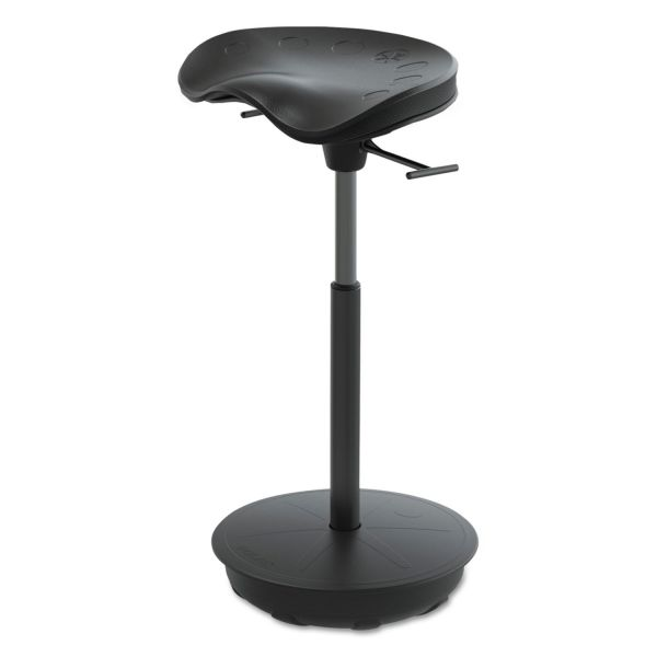 Safco Active Pivot Seat by Focal Upright, Black with Black Base