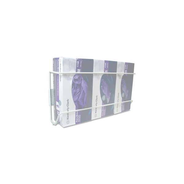 Unimed Wire Wall-Mount Glove Box Holder 4-Box Vertical Stainless Steel White