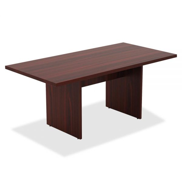 Lorell Chateau Series Mahogany 6' Rectangular Table