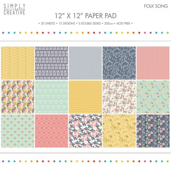 "Simply Creative Paper Pad 12""X12"" 20/Pkg"