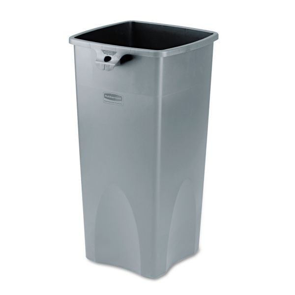 Rubbermaid Commercial Untouchable Square Container, 23gal, Gray