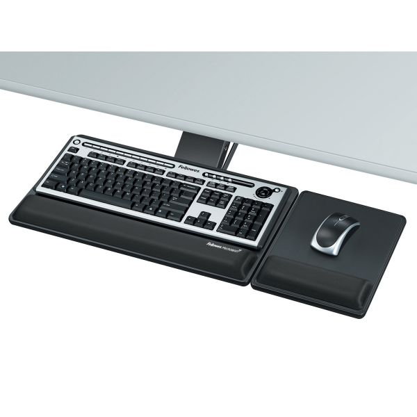 Fellowes Designer Suites Premium Keyboard Tray, 19w x 10-5/8d, Black