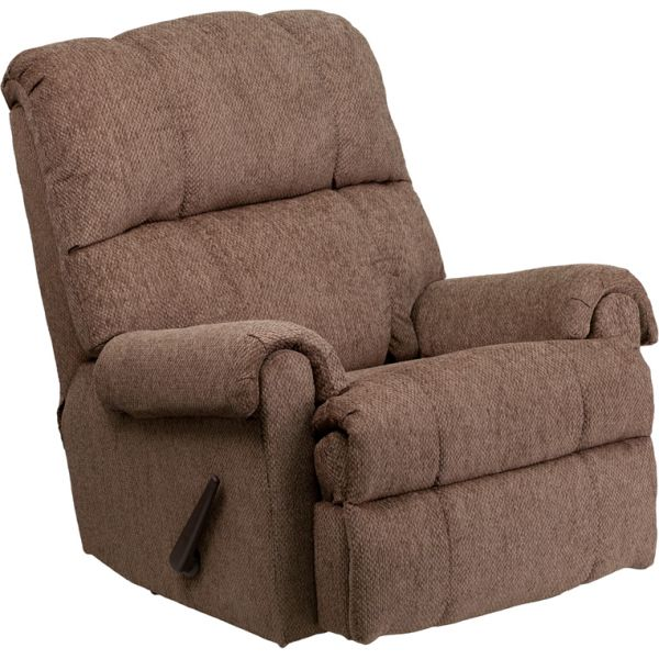Flash Furniture Contemporary Tahoe Bark Chenille Rocker Recliner