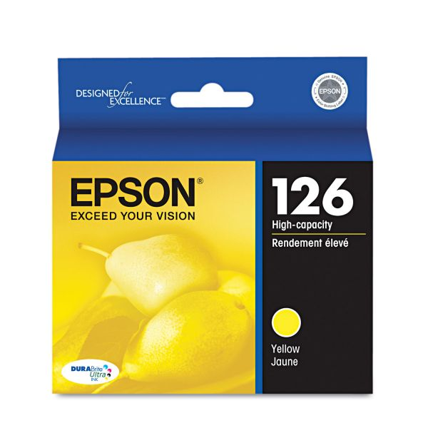 Epson 126 Yellow High-Capacity Ink Cartridge (T126420)