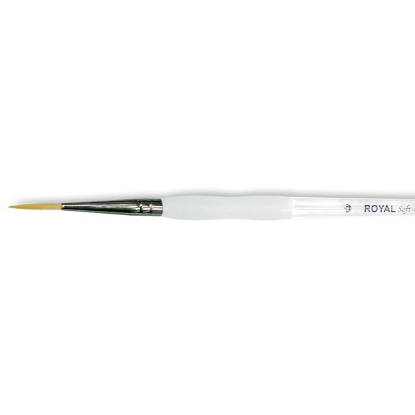 Soft-Grip Golden Taklon Short Liner Brush