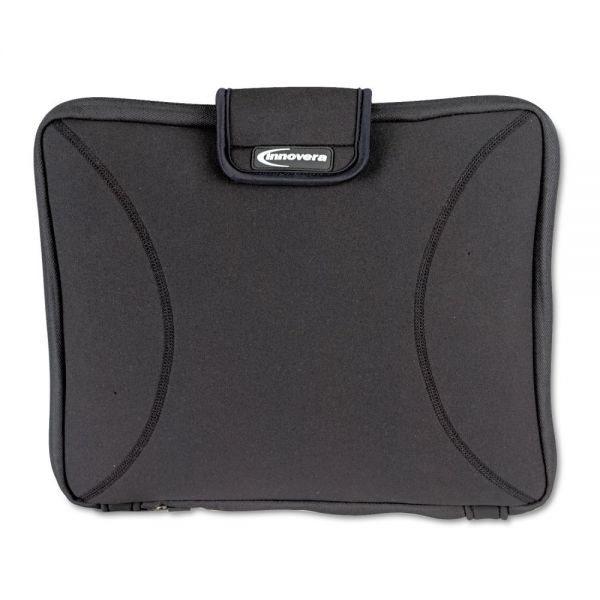 "Innovera Neoprene Laptop Sleeve,  15"", Zippered with Handles, Black"