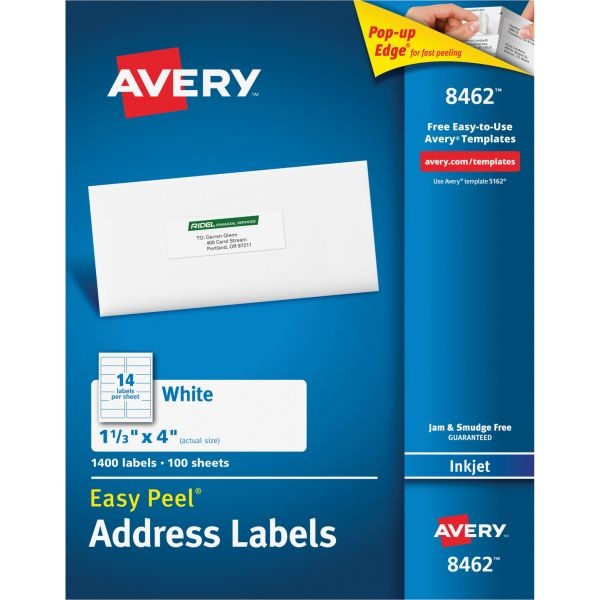 Avery 8462 Easy Peel Address Labels