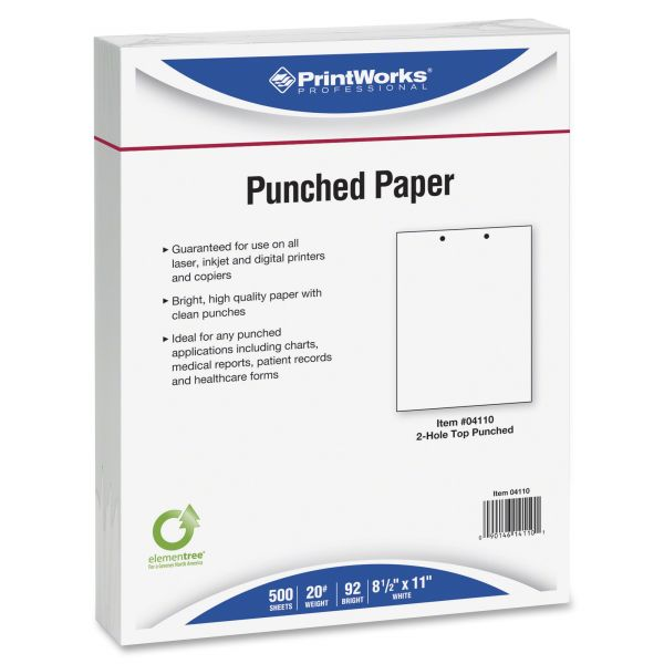 Laser3 Top-Punched Two-Hole Copy/Laser Paper