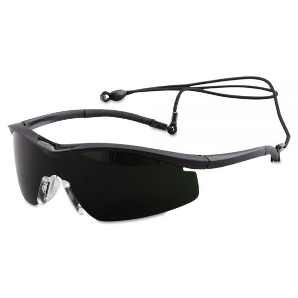 MCR Safety Triwear Protective Eyewear, Onyx Frame, IR 5.0 Lens