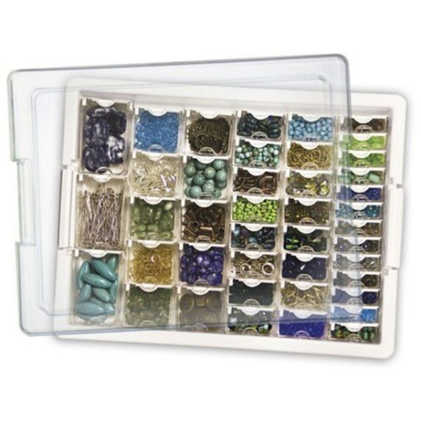 "Elizabeth Ward's Assorted Bead Tray 13.75""X10.5""X2"""