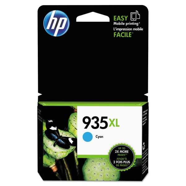HP 935 XL High-Yield Cyan Ink Cartridge (C2P24AN)