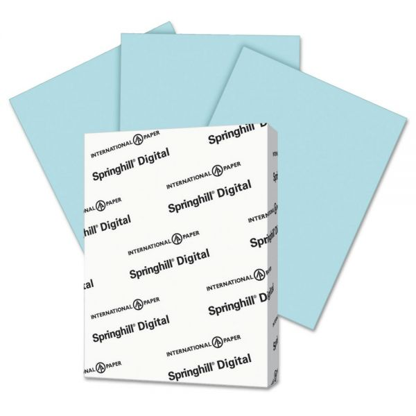 Springhill Digital Index 110 lb Blue Colored Card Stock