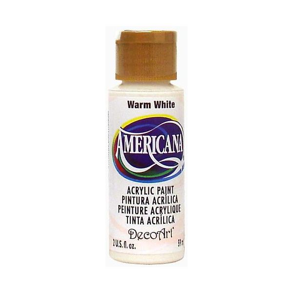 Deco Art Americana Warm White Acrylic Paint