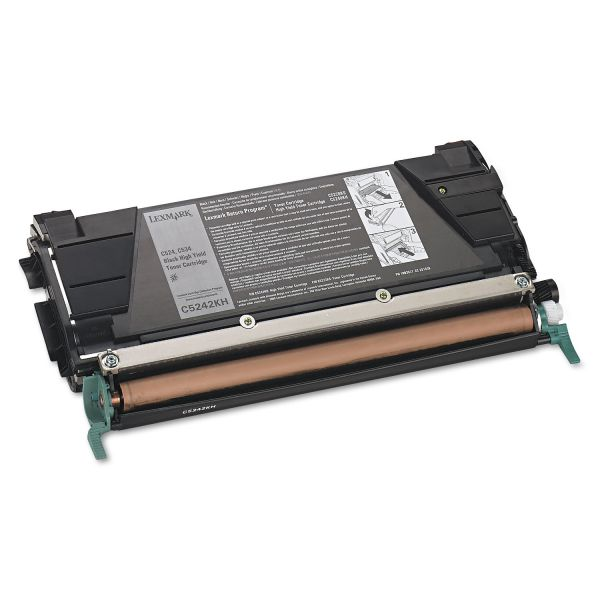 Lexmark C5242KH Black High Yield Toner Cartridge