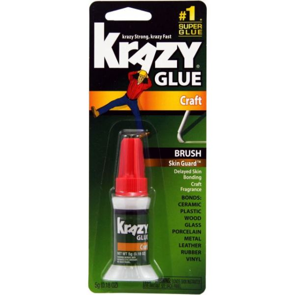 Elmer's Krazy Glue With Skin Guard