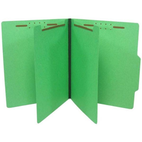 SJ Paper Top Tab Green Classification Folders