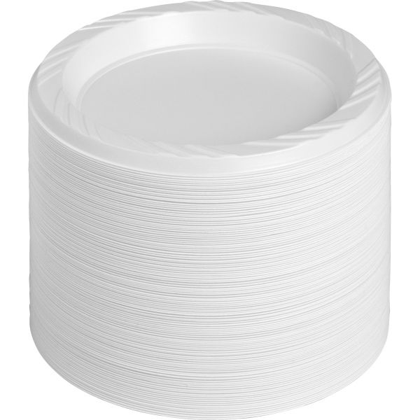 "Genuine Joe Reusable/Disposable 6"" Plastic Plates"