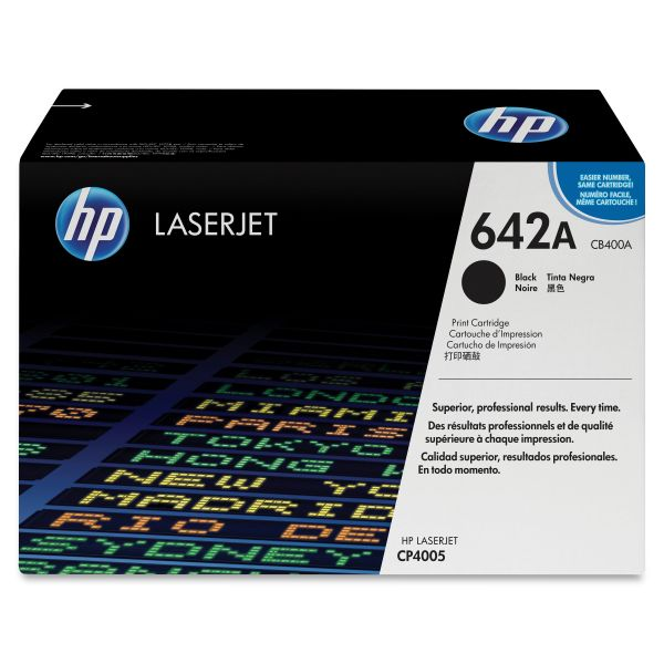 HP 642A Black Toner Cartridge (CB400A)