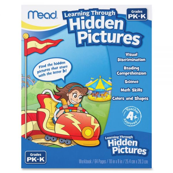 Mead PK-K Learning Through Hidden Pictures Workbk Learning Printed Book