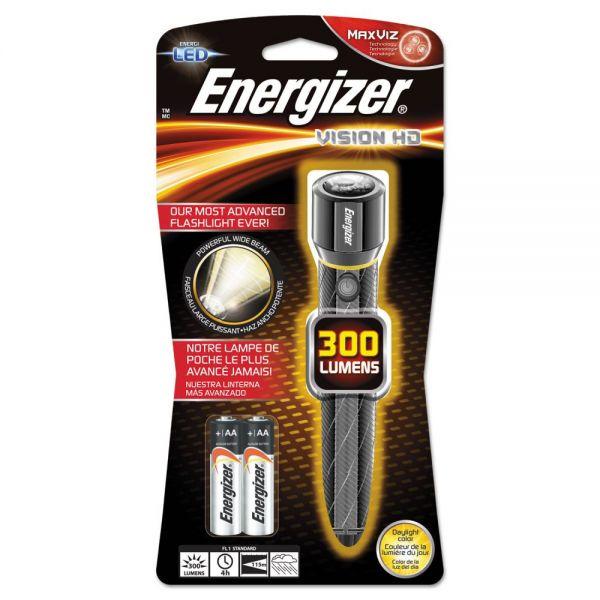 Energizer Metal LED Flashlight, 2 AA, Chrome