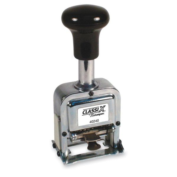 Xstamper ClassiX Self-Inked Automatic Number Stamp