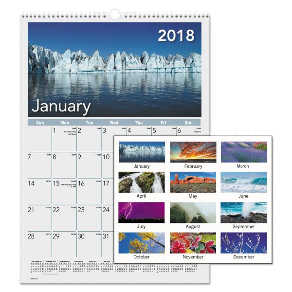 AT-A-GLANCE Mother Nature Monthly Wall Calendar