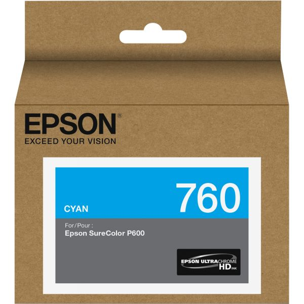 Epson 760 UltraChrome Cyan HD Ink Cartridge (T760220)