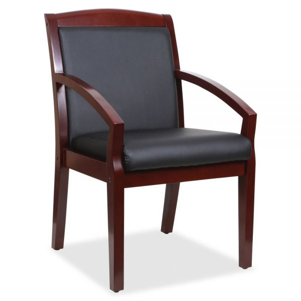 Lorell Sloping Arms Wood Guest Chair