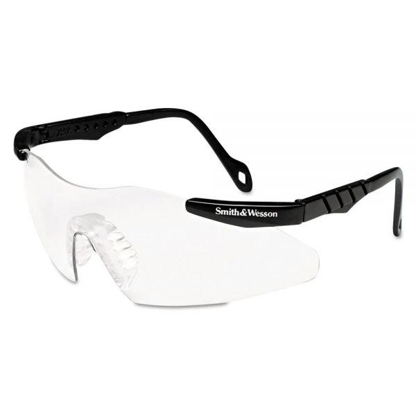 Smith & Wesson Magnum 3G Safety Eyewear, Black Frame, Clear Lens