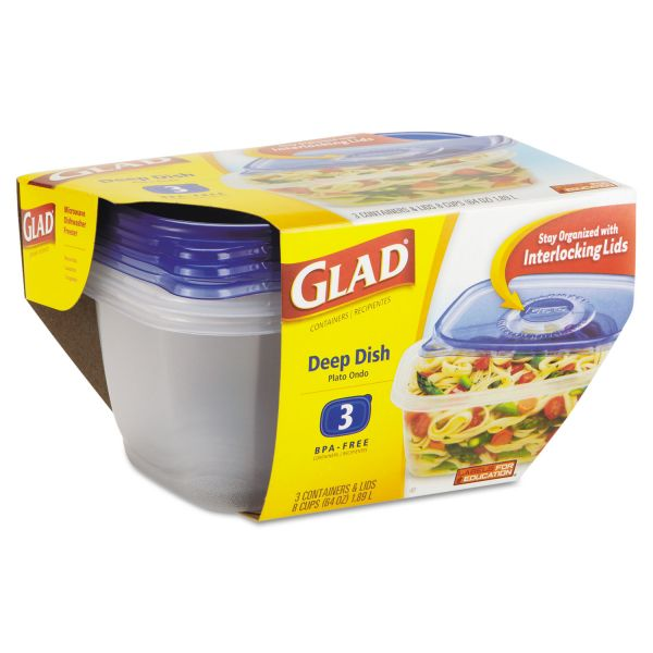 Glad GladWare Deep Dish Food Storage Containers