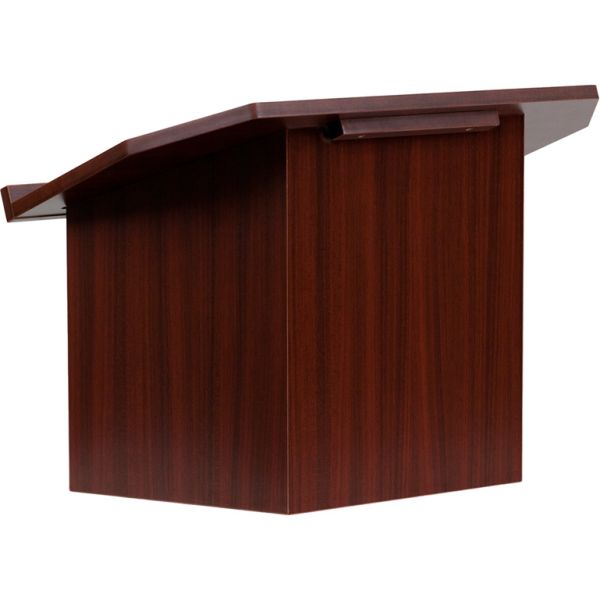 Flash Furniture Foldable Mahogany Tabletop Lectern