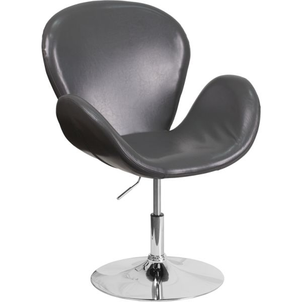 Flash Furniture HERCULES Trestron Series Leather Reception Chair with Adjustable Height Seat