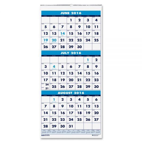 House of Doolittle Three-Month Academic Wall Calendar
