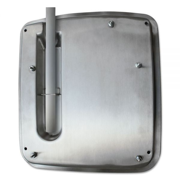 WORLD DRYER VERDEdri Hand Dryer Top Entry Adapter Kit, 14 3/8 x 1 1/4 x 13 1/2, Stainless