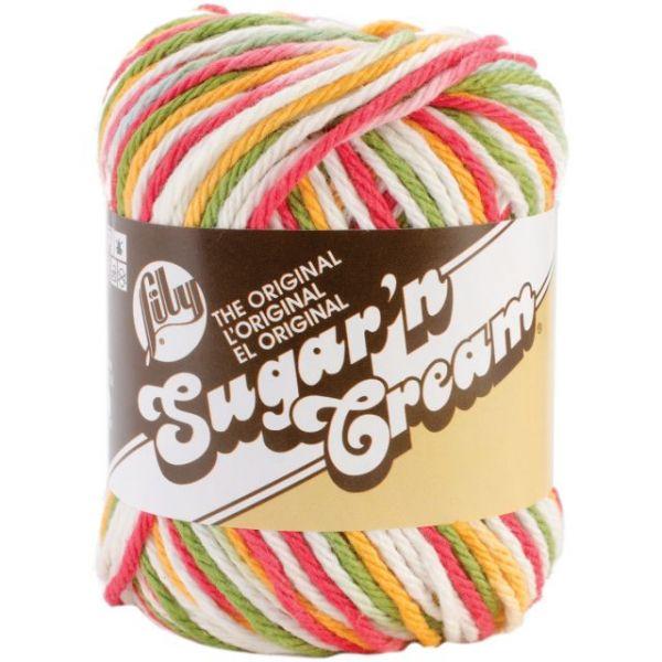 Lily Sugar'n Cream Yarn - Mango Madness