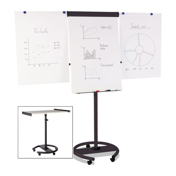 MasterVision 360 Multi-Use Mobile Magnetic Dry Erase Easel