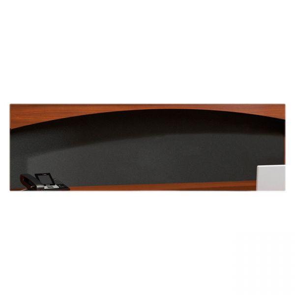 Tiffany Industries Aberdeen Fabric Tack Panel, 69 5/8W X 1/2D X 19 1/4H, Black