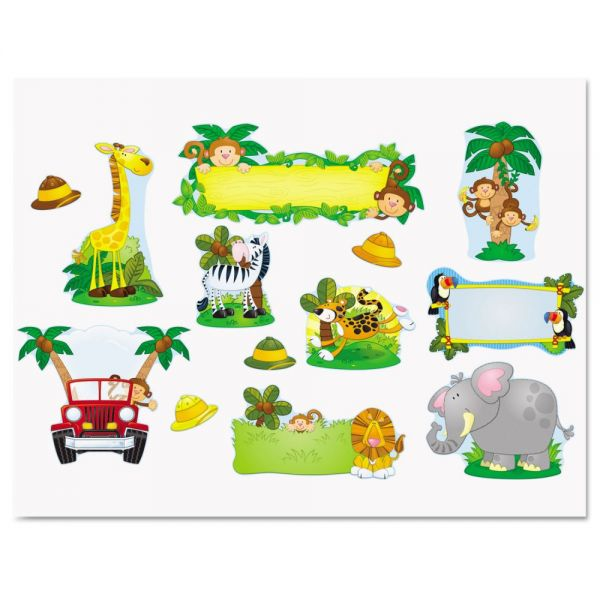 Carson Dellosa Jungle Safari Bulletin Board Set
