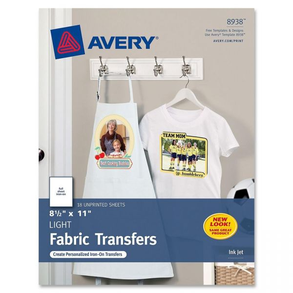 Avery Light Fabric Iron-on Transfer Paper